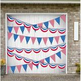 The Holiday Aisle® Patriotic Garage Door Mural Plastic in Blue/Red, Size 84.0 H x 96.0 W x 1.0 D in | Wayfair 00ABDD120E18479B9A089E64711E9DC2