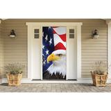 The Holiday Aisle® Patriotic Front Door Mural Plastic in Blue/Red/White, Size 80.0 H x 36.0 W x 1.0 D in | Wayfair 183262C895944849831BA28B1D06103F