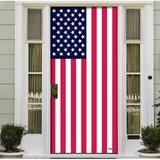 """The Holiday Aisle® Patriotic Front Door Mural, Plastic in Red/Blue/White, Size 36""""H X 80""""W X 1""""D 