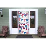 The Holiday Aisle® Patriotic Front Door Mural Plastic in Blue/Red, Size 80.0 H x 36.0 W x 1.0 D in | Wayfair AD7695FA7F5A492EBFA4397DF7632CD9