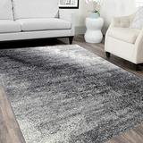 HR Grey/White/Black -Faded/ Distressed Area Rug 5x7 Splash Pattern Area Rug 5x7 Abstract, 5' X 7'