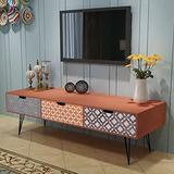 vidaXL Brown TV Cabinet Storage Drawers Sideboard Low Side Console Table Stand