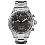 Timex Mens Chronograph Quartz Watch with Stainless Steel Strap TW2R38400