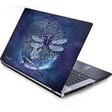 Skinit Decal Laptop Skin Compatible with Generic 17in Laptop (15.2in X 9.9in) - Originally Designed Dragonfly Celtic Knot Design