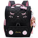 Girls Backpacks, Waterproof Cute Backpack for Kids Toddler Girl Preschool Bookbags Elementary School Bags (Large, A-Black)