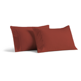 Cosy House Collection Luxury Bamboo Pillowcase Set - Standard - Burgundy
