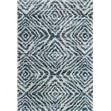"""Loloi Quincy QC-01 Indoor Area Rugs, 1'-6"""" X 1'-6"""" Square, Ocean and Pebble"""