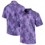 Men's Tommy Bahama Purple TCU Horned Frogs Fuego Floral Silk Camp Shirt