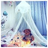 NYDECOR Mosquito Net Bed Canopy Netting Curtains Princess Stars Indoor Outdoor Dome Play Reading Nook Tent for Girls Boys Kids,White