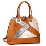 Dasein Zip-Around Classic Dome Satchels Tote Bags Women Double Zip Top-handle Purse Handbag Shoulder Bag