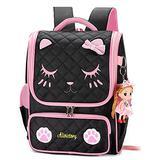 Backpack for Kids Grils, Cute Cat School Bags Toddler Backpacks Preschool Primary Bookbags-Black