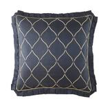 Waterford Bedding Vaughn Euro Polyester/Polyester blend in Blue/Navy, Size 26.0 H x 26.0 W in | Wayfair SHVGHNW41826X26