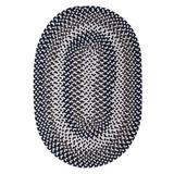 Winston Porter Westin Hand-Braided Area Rug Polyester/Polypropylene/Cotton in Blue/White, Size 156.0 H x 120.0 W x 0.5 D in | Wayfair