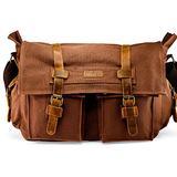 "GEARONIC 14"" 15"" 17"" Men's Messenger Bag Laptop Satchel Vintage Shoulder Military Crossbody"