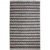World Menagerie Edwa Ikat Hand-Knotted Wool Charcoal/Silver Area Rug Wool in Brown/Gray, Size 48.0 H x 24.0 W x 0.24 D in | Wayfair