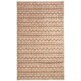 World Menagerie Edwa Hand-Knotted Multi/Ivory Area Rug Wool in Brown/White, Size 132.0 H x 96.0 W x 0.24 D in | Wayfair