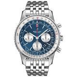 Breitling Navitimer 1 B01 Chronograph 46 Blue Dial Men's Watch AB0127211C1A1