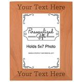 Personalized Picture Frame Your Text Personalized Wood Engraved 5x7 Portrait Picture Frame