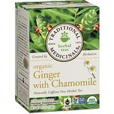 Traditional Medicinals Organic Ginger with Chamomile Tea, 16 Tea Bags (Pack of 6)