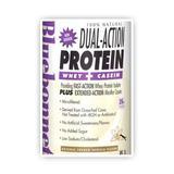 100% Natural Dual Action Protein Powder, Natural Original Flavor, 1.1 oz x 8 Packets, Bluebonnet Nutrition
