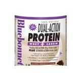 100% Natural Dual Action Protein Powder, Natural Chocolate Flavor, 1.1 oz x 8 Packets, Bluebonnet Nutrition