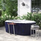 ALEKO 2 Person 130 Jet Inflatable Hot Tub, Vinyl in Dark Blue, Size Small | Wayfair HTIO2BLD