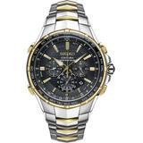 Men's Coutura Radio Sync Solar Chronograph Two-tone Stainless Steel Bracelet Watch 45mm Ssg010 - Metallic - Seiko Watches