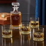 Darby Home Co Levant Monogrammed 5 Piece Whiskey Decanter Set Glass, Size 11.0 H x 8.5 W in | Wayfair 50F4AA24B17D44FD9A21C95453E5BC6C
