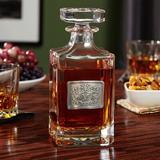 Darby Home Co Louisiana Royal Crested 26 oz. Whiskey Decanter Glass, Size 8.25 H x 3.5 W in | Wayfair 7320E5B221764C98B7E605D4F4C57E3B