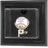 """Pittsburgh Pirates (2014 - Present) Black Framed Wall-Mounted Logo Baseball Display Case"""