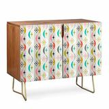 East Urban Home Andii Bird Retro Wave Credenza Wood in Brown, Size 31.0 H x 38.0 W x 20.0 D in | Wayfair E9E16472CBCE43B4977372D12417D700