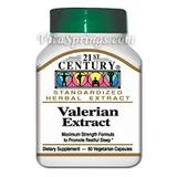 Valerian Extract 60 Vegetarian Capsules, 21st Century Health Care
