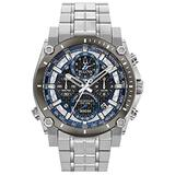 Bulova Precisionist Chronograph Mens Watch, Stainless Steel , Two-Tone (Model: 98B316)