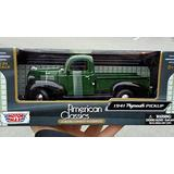 MotorMax American Classics: 1941 PLYMOUTH (GREEN) Pickup Truck in 1:24 Scale Diecast Metal