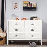 DaVinci Fairway 6 Drawer Double Dresser Wood in White, Size 33.9 H x 48.0 W x 17.8 D in | Wayfair M13516CGW