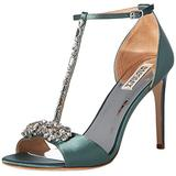 Badgley Mischka Women's Pascale Heeled Sandal, sage satin, 5 M US