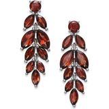 Peridot Vine Drop Earrings (6-3/4 Ct. T.w.) In Sterling Silver - Red - Macy's Earrings
