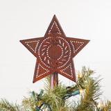 Gracie Oaks Star Tree Topper Metal in Black, Size 8.0 H x 7.0 W x 1.0 D in | Wayfair EDCB59F9B00549CB9E8CADB4CA12476E