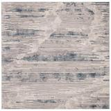Orren Ellis Ismael Abstract Ivory Area Rug Polyester/Polypropylene in White, Size 79.0 H x 79.0 W x 0.47 D in   Wayfair