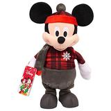 """Disney Holiday Deluxe 13"""" Feature Plush Mickey- Brown Mailer"""