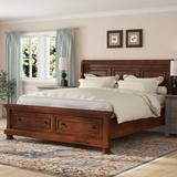 Charlton Home® Estefania Low Profile Storage Sleigh Bed Wood in Black, Size 64.75 W x 92.25 D in | Wayfair AF52AD7225044713B8D8E6DA295EB1C8