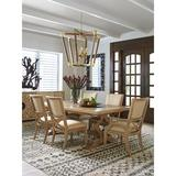 Tommy Bahama Home Los Altos 7 - Piece Extendable Solid Oak Dining SetWood/Upholstered Chairs in Brown, Size 29.75 H in | Wayfair
