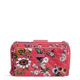 Vera Bradley Signature Cotton Deluxe All Together Crossbody Purse with RFID Protection, Coral Floral