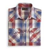 Men's John Blair Short-Sleeve Snap-Front Shirt, Brick Red XL Tall