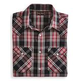 Men's John Blair Short-Sleeve Snap-Front Shirt, Phantom Plaid 2XL Regular