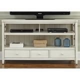 Liberty Furniture Industries Dockside II TV Console, W55 x D18 x H32, White
