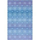 Mohawk Home Z0073-096120-EC Linear Maze 8' x 10' Abstract Geometric Mod Area Rug Cornflower Blue