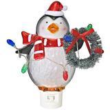 "Roman 54195 - 6"" Penguin with Wreath Night Light (6""LED PENGUIN NIGHTLT W/WREATH)"
