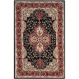 """Safavieh Easy Care Collection EZC718B Hand-Hooked Area Rug, 3'6"""" x 5'10"""", Black / Red"""