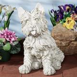Oliver Cairn Terrier Dog Sculpture Antique White , Antique White
